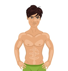 Sexy guy isolated - vector