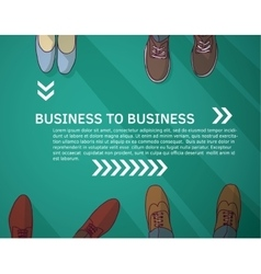 Business frame and background group businessmen vector