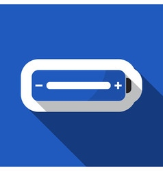 Blue information icon - battery full vector