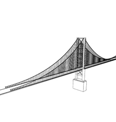 Golden gate bridge - san francisco vector