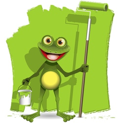 Frog painter vector