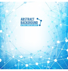 Abstract background network connect concept vector