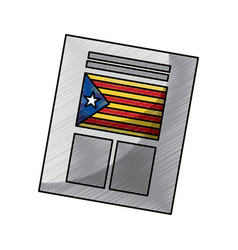 Ballot used for catalonia referendum of vector