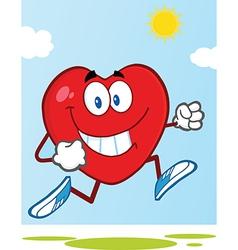 Cartoon heart vector image vector image