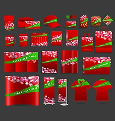 Christmas light background with corporate identity vector