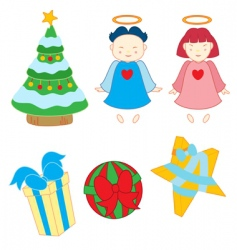 christmas variety vector image vector image