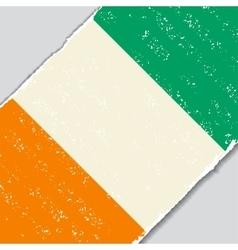 Cote d ivoire grunge flag vector