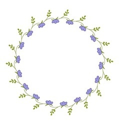 Delicate round frame vector