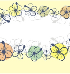 hibiscus flowers vector image vector image