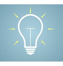 idea concept - bulb vector image