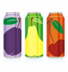 juice cans vector image vector image