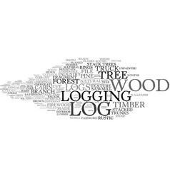 Logging word cloud concept vector