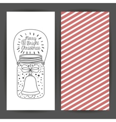 Mason jar decoration for christmas season vector