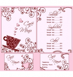 menu templates vector image