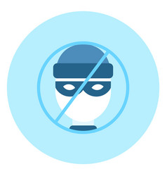 No theifs house protection system icon on blue vector