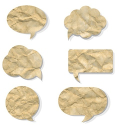 Old speech bubble set vector