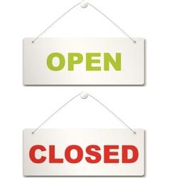 Open and closed door sign vector
