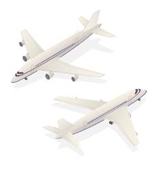 Passenger Airplane Isometric Transportation vector image