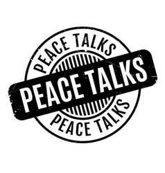 Peace talks rubber stamp vector