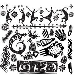 primitive art design elements vector image vector image
