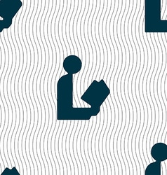 read a book icon sign Seamless pattern with vector image vector image