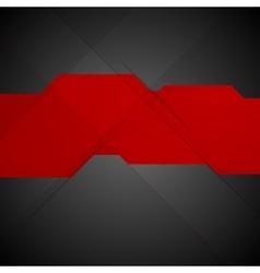 Red black contrast tech minimal design vector