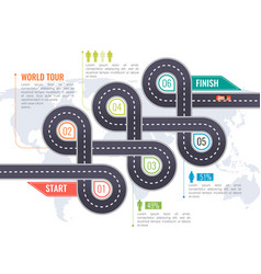 road parts infographics vector image