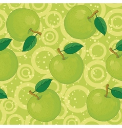 Seamless background apples and rings vector image