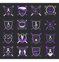 Set Cricket Badges vector image vector image