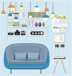 Sleek living room vector