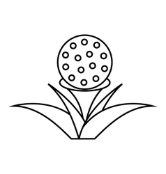 Stand for golf ball icon outline style vector