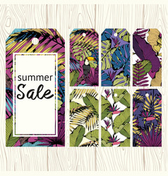 Summer labels for sale set for printing vector