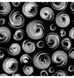 The seamless black and white pattern with vector image