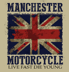 Vintage on the theme of the british motorcycle in vector