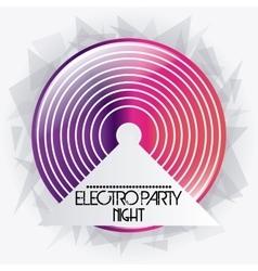 Vinyl icon electro party design graphic vector