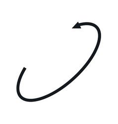Vr 360 degree panoramic arrow symbol vector