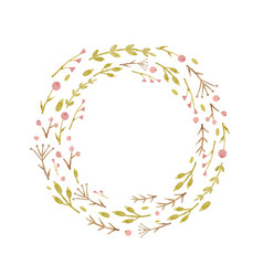 Watercolor abstract floral wreath vector