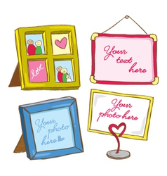 cute frame vector image