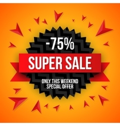 Big sale banner 75 off best offer vector