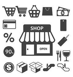 Shopping icons set eps 10 vector image