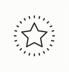 Star line outline icon best choice favorite sign vector