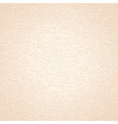 Decorative Ornamental Beige Background vector image