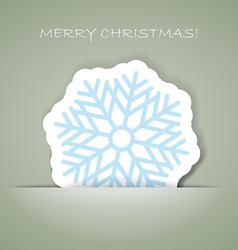 Snowflakechristmas greeting card with paper flake vector