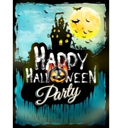 Halloween night background EPS 10 vector image