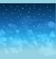 A magical Nigh Blue sky with stars and delecate vector image