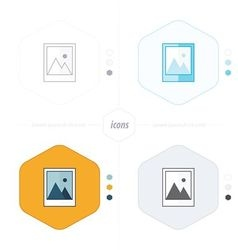 Photographs pictures icon design vector