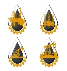 The icons of the oil industry vector image