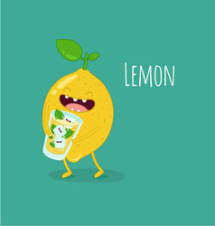 Lemon drink lemonade vector