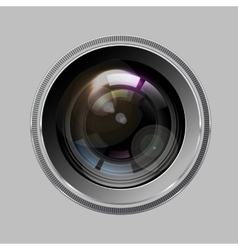 Camera photo lens vector image