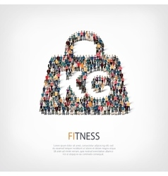 Fitness people crowd vector